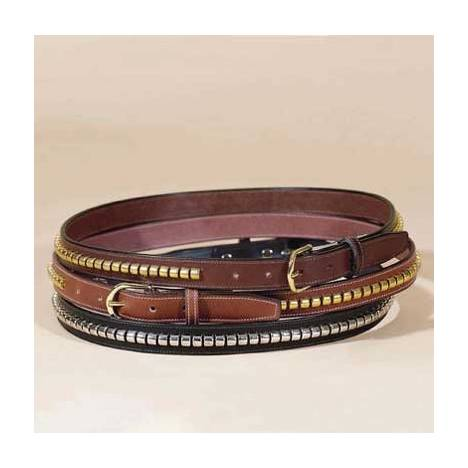 "TORY LEATHER 1"" Stitched Belt with Clincher Strip"