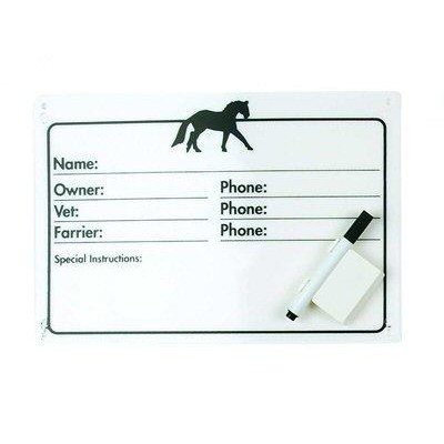 Horse Info Stall Plaque