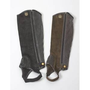 Ovation Ladies Suede Stretch Ribb Half Chaps with Zipper