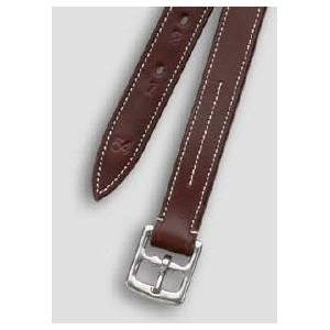 Camelot Brown Nylon Lined Stirrup Leathers-Brown