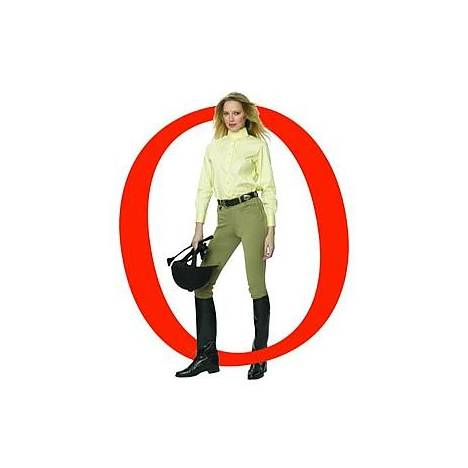 Ovation Ladies EuroWeave Side Zip Riding Breeches