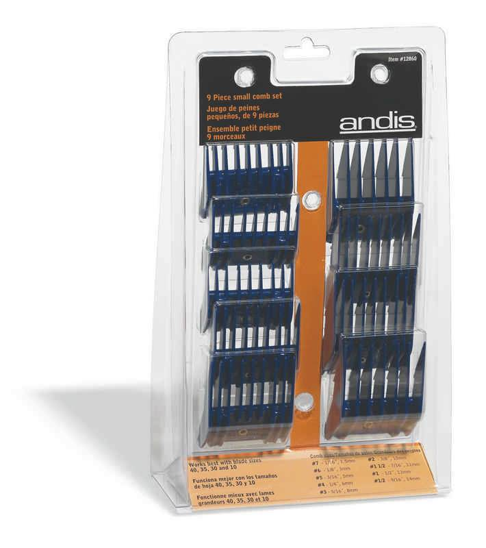 Andis 9 Piece Small Comb Set