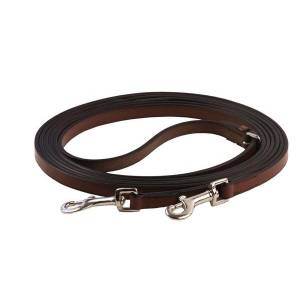 Henri de Rivel Leather Breastplate Draw Reins with Breastplate Snap