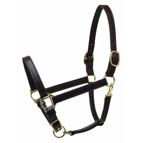 "Perris 1"" Deluxe Turnout Leather Halter"