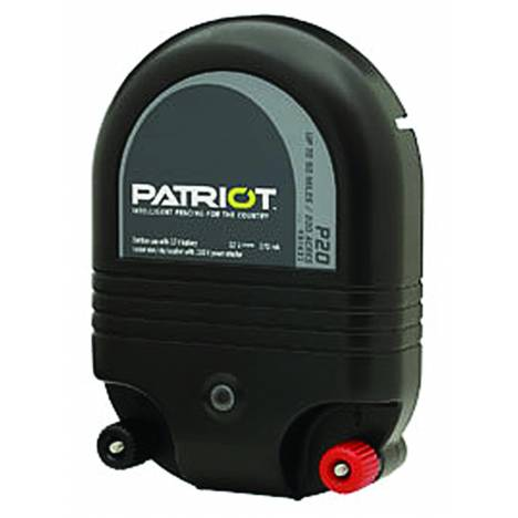 Patriot P20 Dual Purpose Fence Energizer - 12 V DC/110 V AC