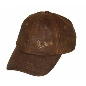 Outback Trading Leather Slugger Cap- Unisex