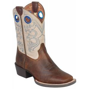 Ariat Crossfire Western Boot - Kids - Brown/Cream
