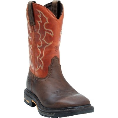 Ariat Workhog Wide Square Toe Boot - Mens - Dark Earth Brick