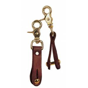 Tory Leather Slide Assembly For Pulley Draw Reins