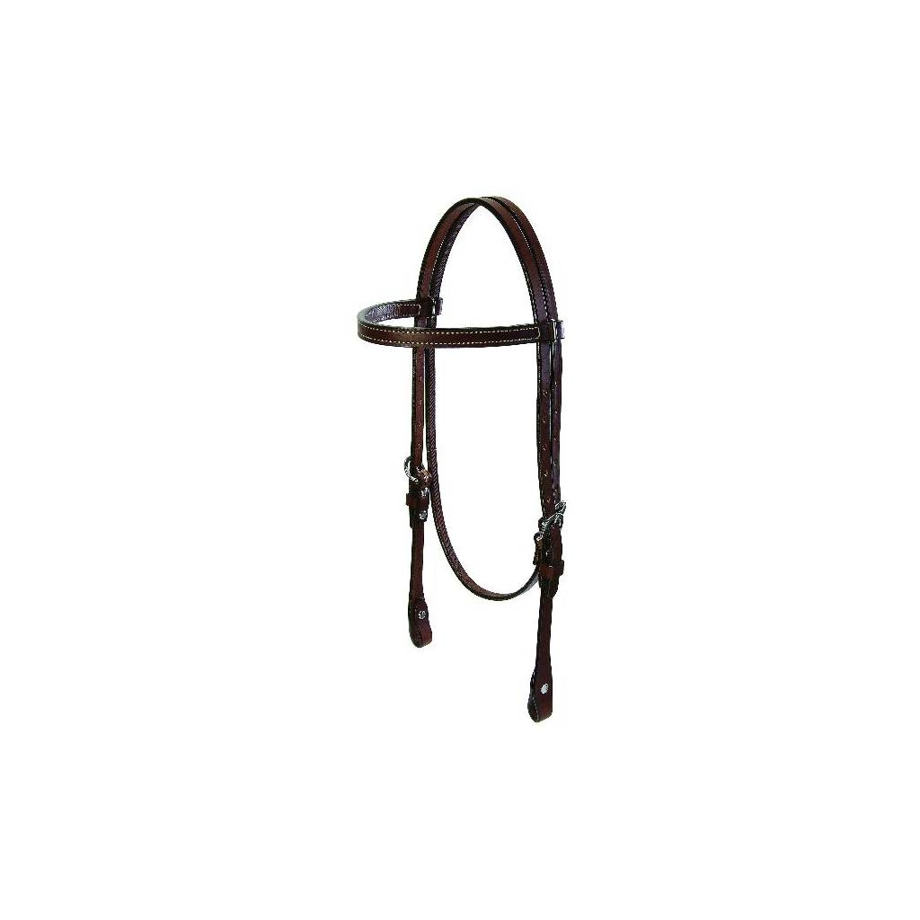 Weaver Doubled Stitched Bridle Leather Browband Headstall