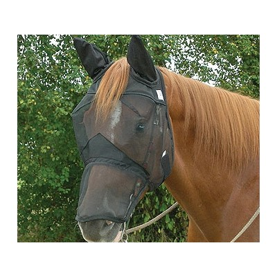 CASHEL Quiet Ride Fly Mask Long Nose with Ears