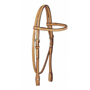 Tory Leather Brow Band Headstall