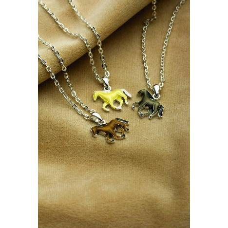 Galloping Horse Pendant Necklace