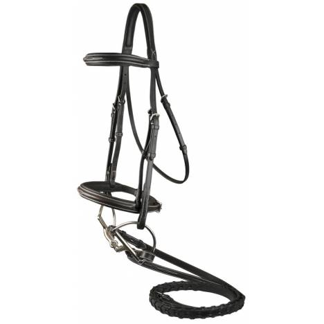 DaVinci Fancy Raised Padded Comfort Crown Bridle with Fancy Raised Laced Reins