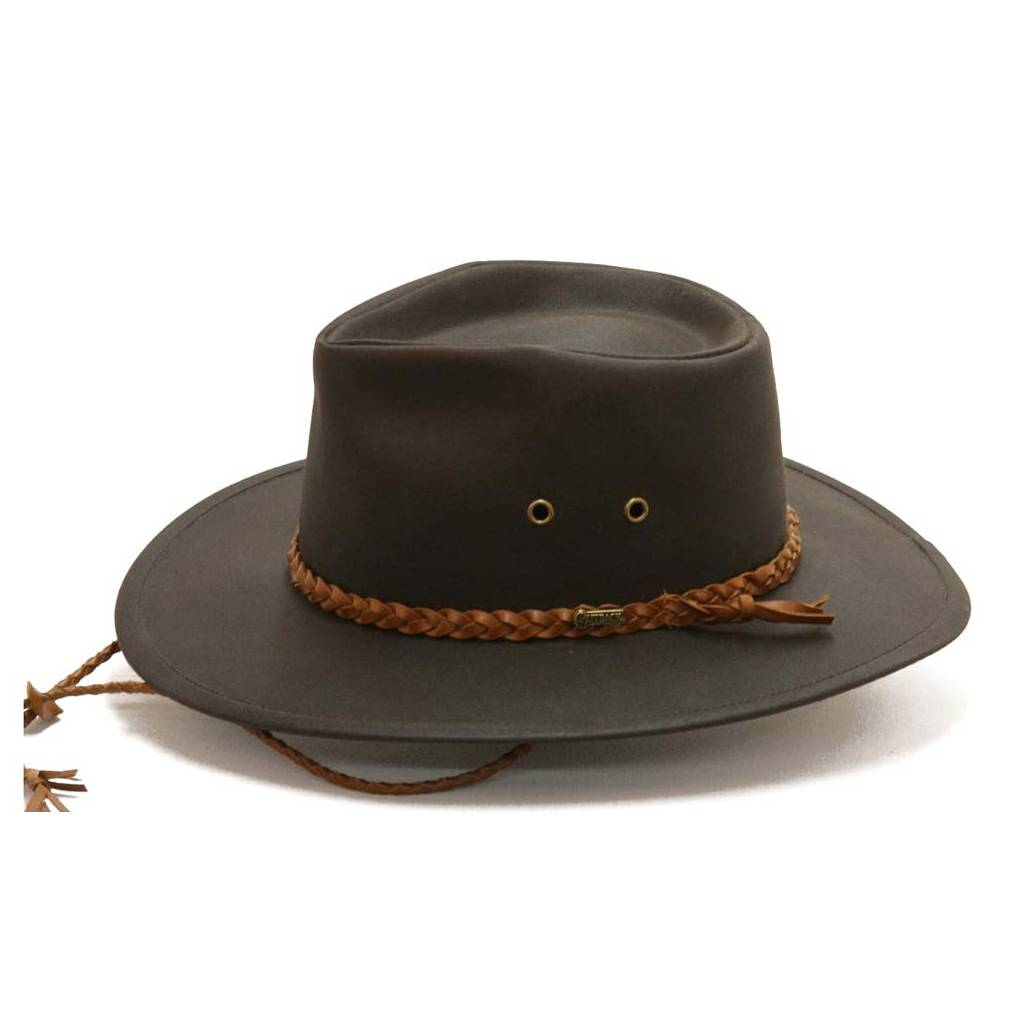 3cd28b5455846 Outback Trading Oilskin Grizzly Hat- Men s