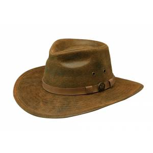 Outback Trading Leather Kodiak Hat- Men's