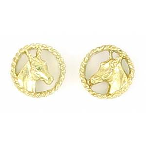 Finishing Touch Horse Head in Rope Earrings