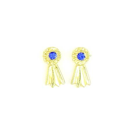 Finishing Touch Mini Blue Ribbon Pierced Earrings