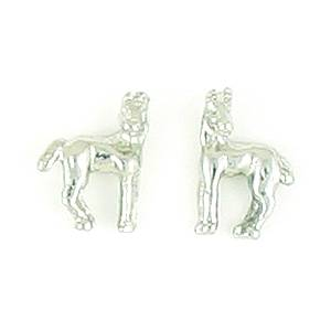 Finishing Touch Horse with  Turned Head Earrings