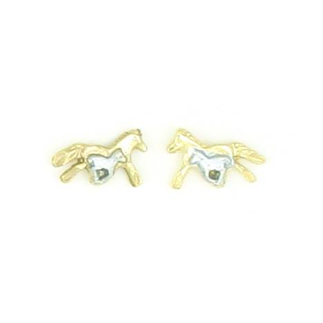 Finishing Touch 2-Tone Mare and Foal Earrings