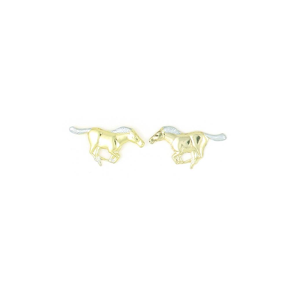 Finishing Touch Two-Tone Running Mustangs Earrings