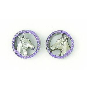 Finishing Touch 2-Tone Horse Head In Rope Earrings