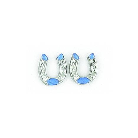 Finishing Touch 2-Tone Horseshoe Earrings