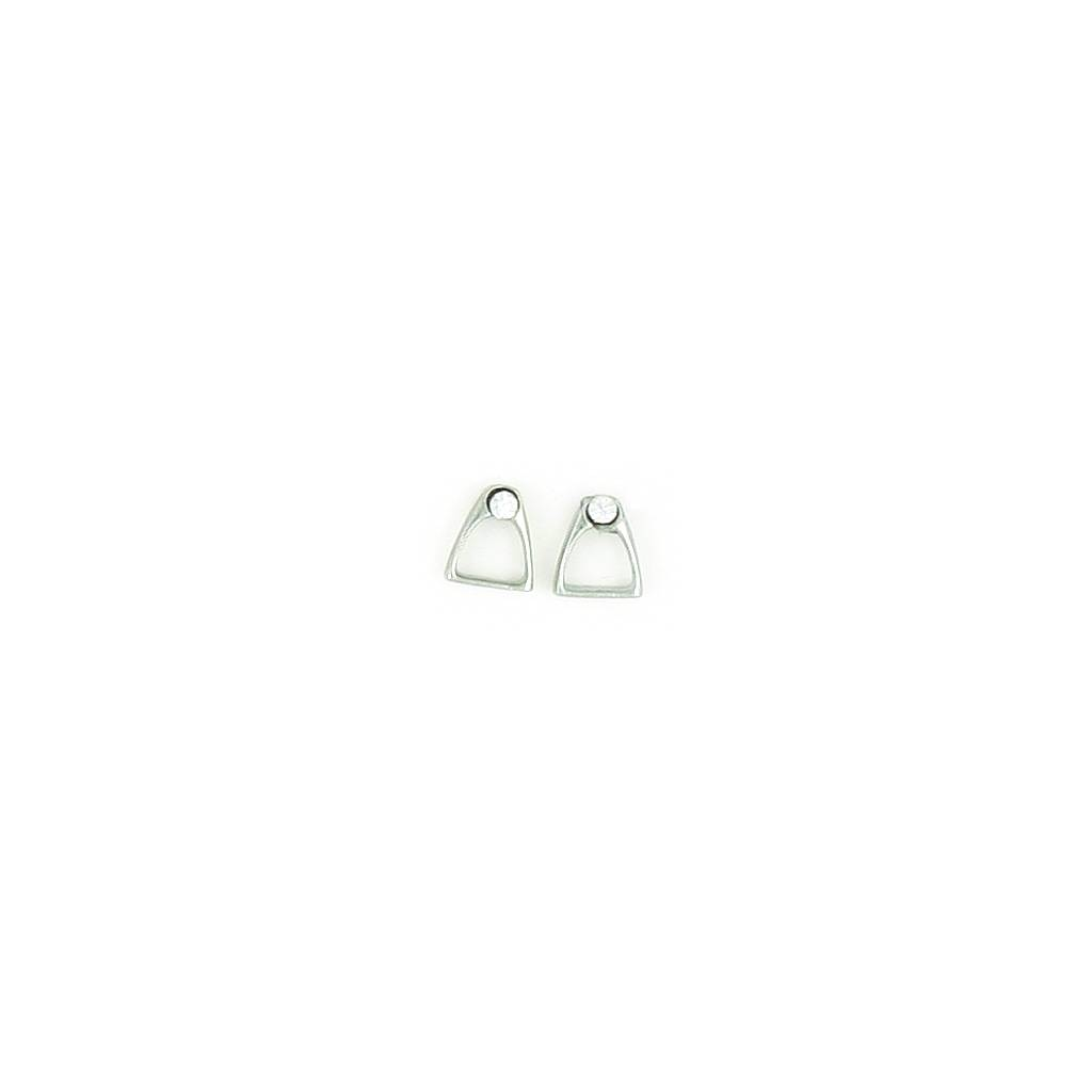 Finishing Touch Mini Stirrup Earrings with Stone