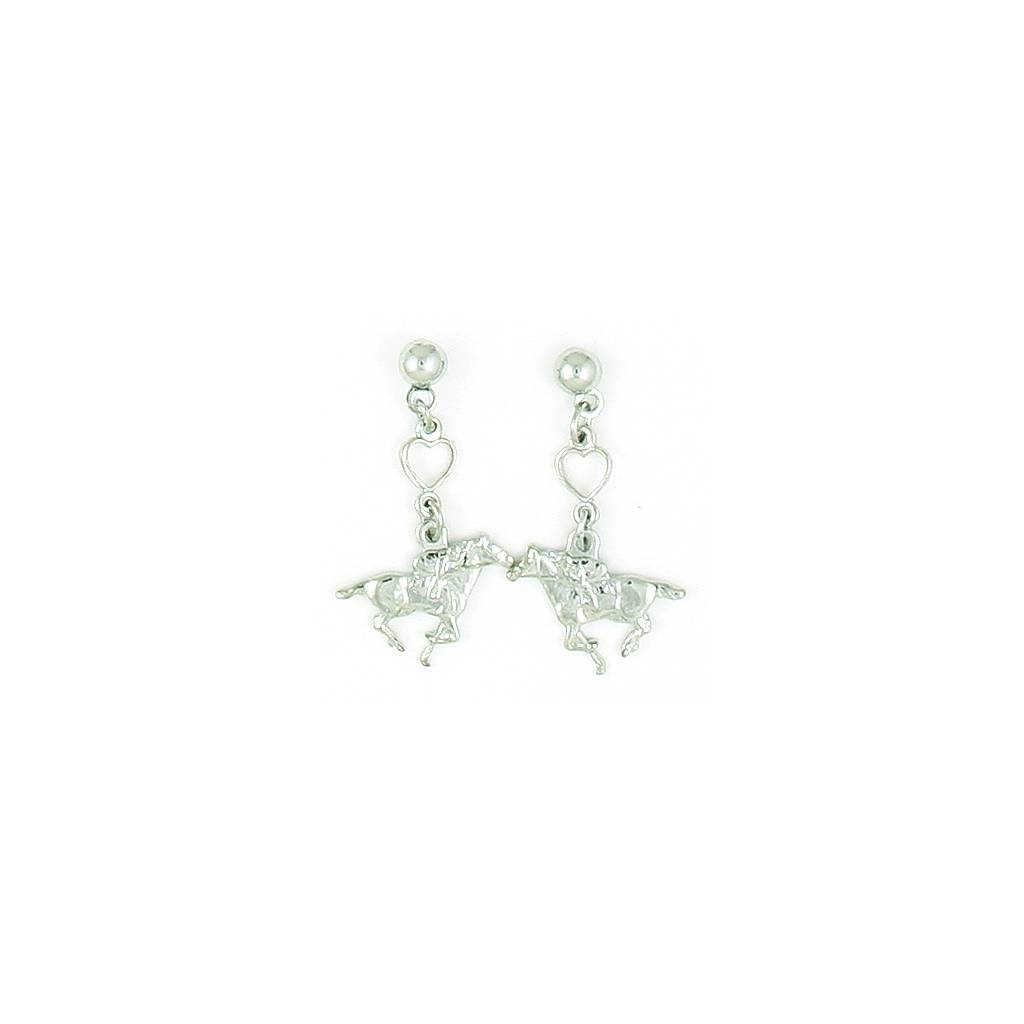 Finishing Touch Racer with Heart - Balldrop Earrings