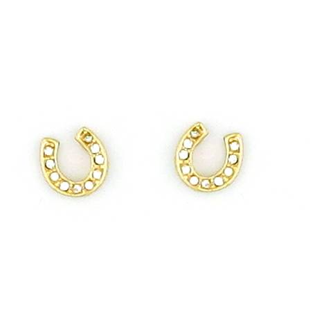 Finishing Touch Horseshoe with Crystal Stone Earrings