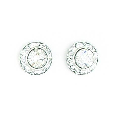 Finishing Touch Crystal Rondelle Earrings