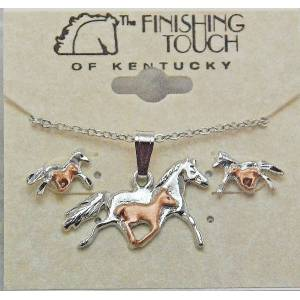 Finishing Touch 2-Tone Mare and Foal Gift Set