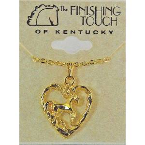 Finishing Touch Standing Horse Heart Necklace
