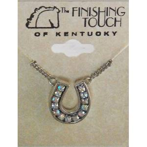 Finishing Touch Horseshoe Necklace - Aurora Borealis