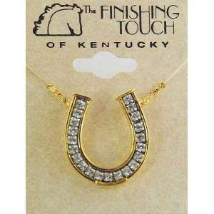Finishing Touch Horseshoe Channel with  Stones Necklace