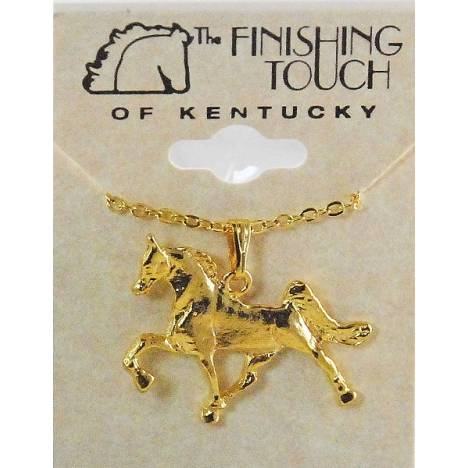 Finishing Touch Walking Horse Pendant Necklace