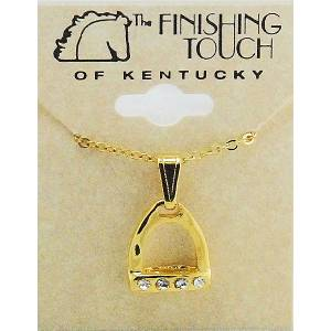 Finishing Touch Stirrup with  Stones Necklace