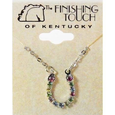 Finishing Touch Horseshoe Pastel Rhinestone Necklace