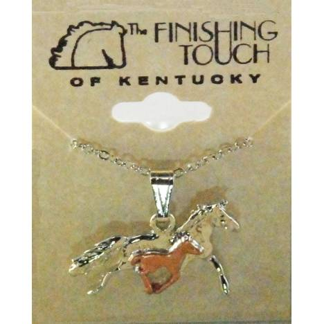 Finishing Touch 2-Tone Mare And Foal Necklace