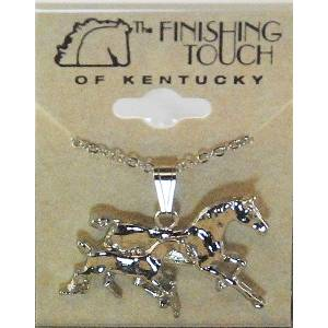 Finishing Touch Galloping Mare And Foal Necklace