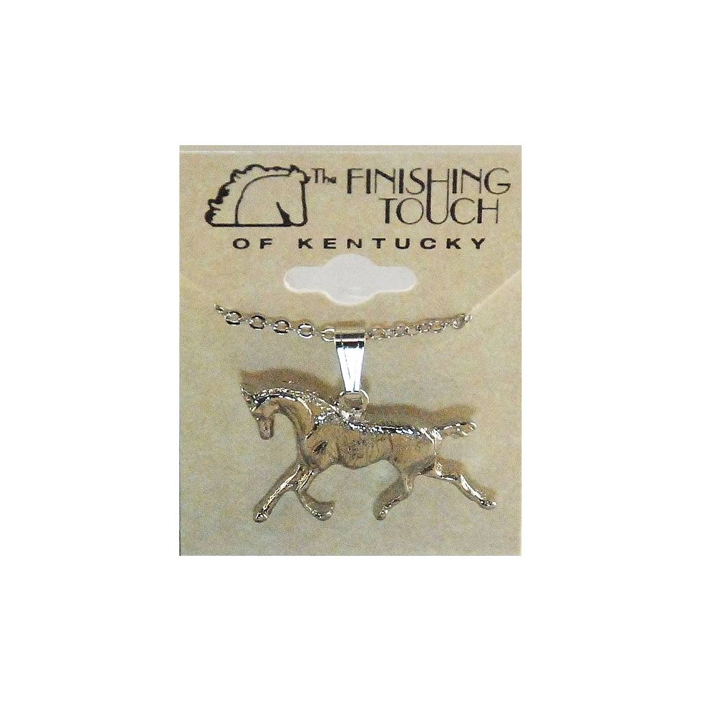 Finishing Touch Trotting Horse Necklace