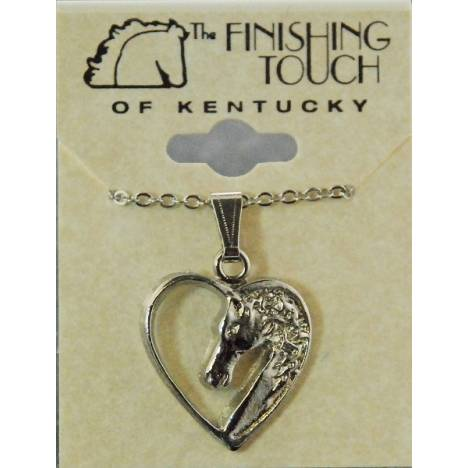 Finishing Touch Horse Head In Heart Pendant
