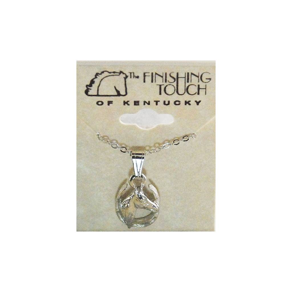 Finishing Touch Horse Head In Horseshoe Necklace