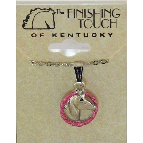 Finishing Touch 2-Tone Horse Head In Rope Necklace