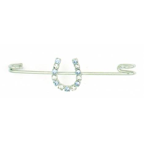 Finishing Touch Crystal Rondelle Stock Pin - Light Sapphire