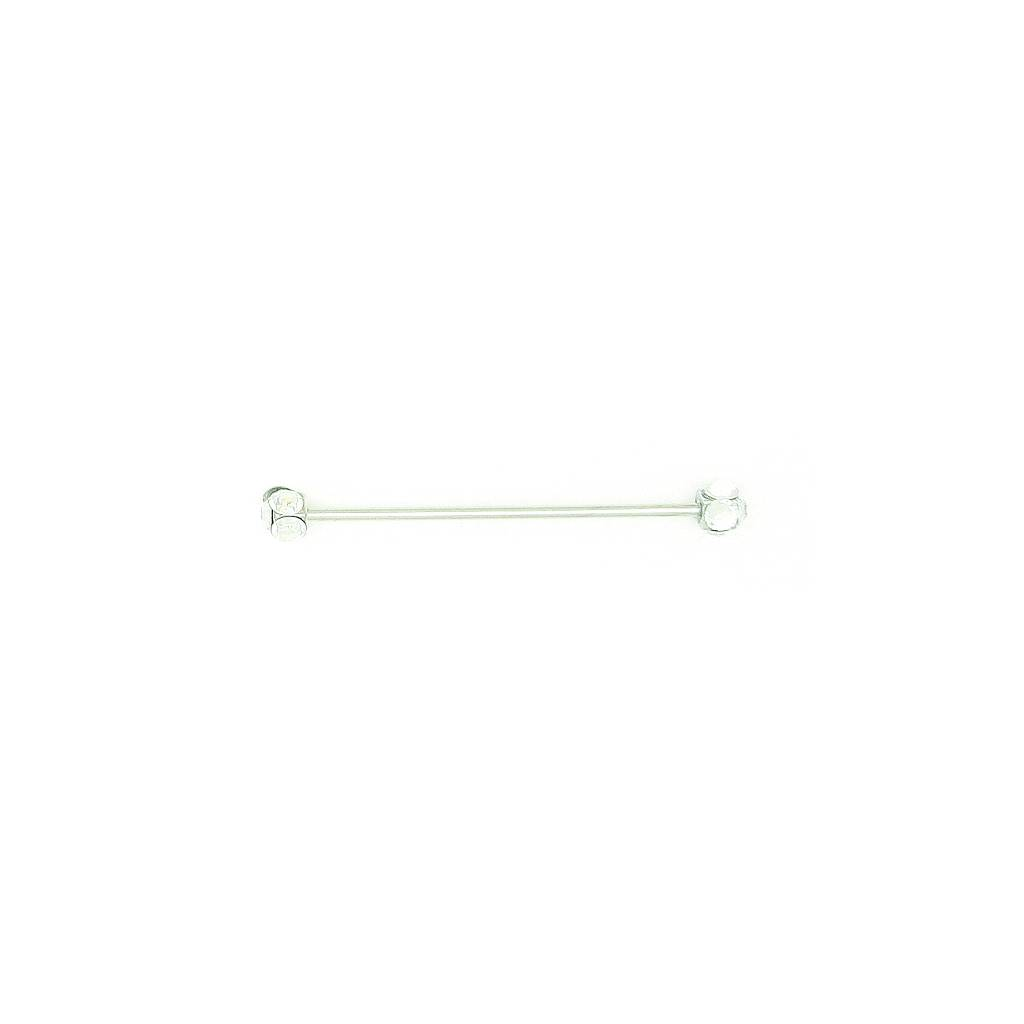 Finishing Touch Round Crystal Collar Bar - Clear