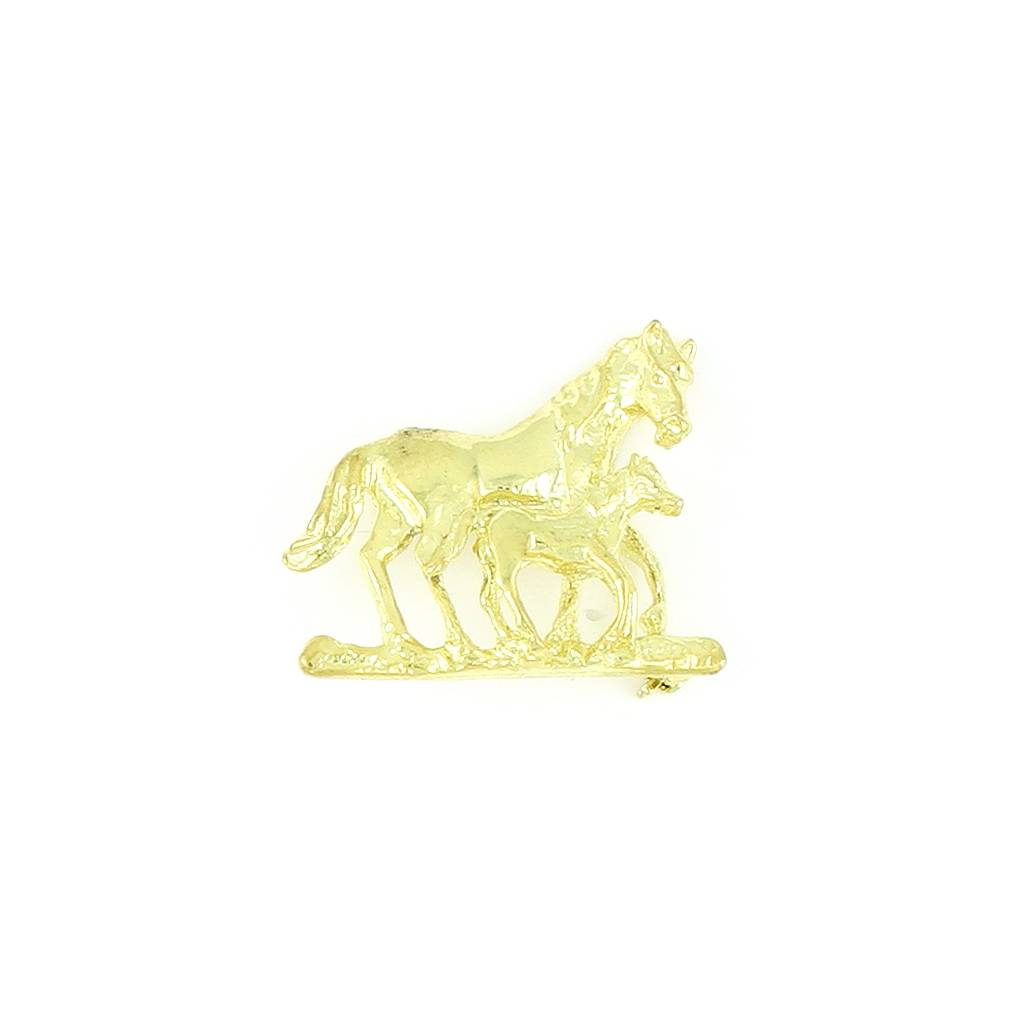 Finishing Touch Mare and Foal Polished Pin