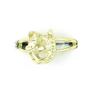Finishing Touch Horse Head In Horseshoe Adjustable Ring