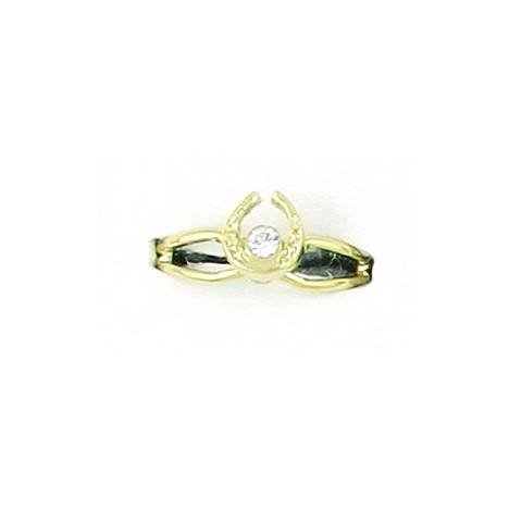 Finishing Touch Horseshoe with Stone Adjustable Ring