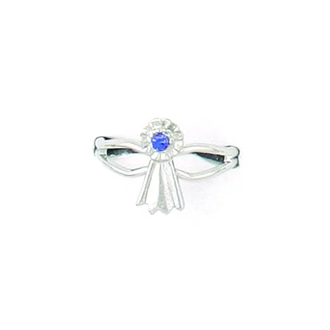 Finishing Touch Blue Ribbon Adjustable Ring